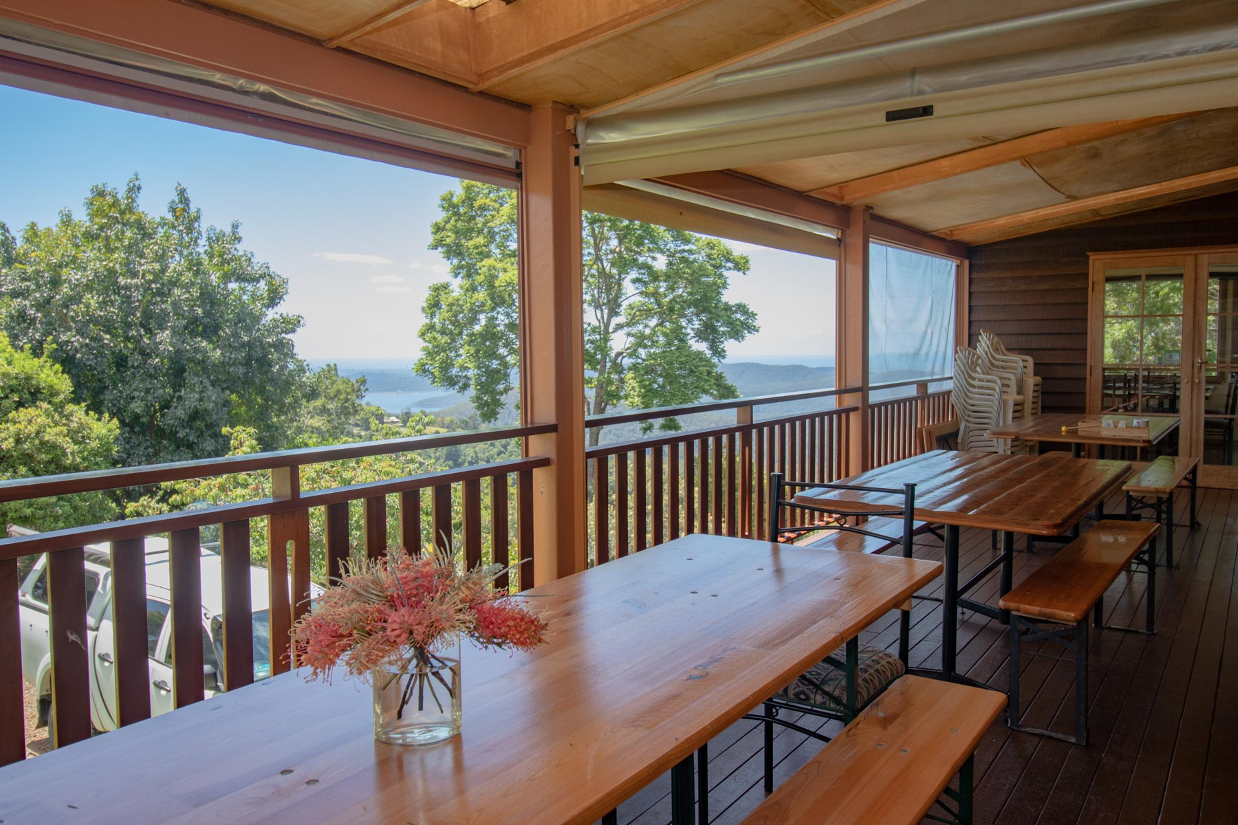 Mystery Mountain Farm Stay   Front Deck