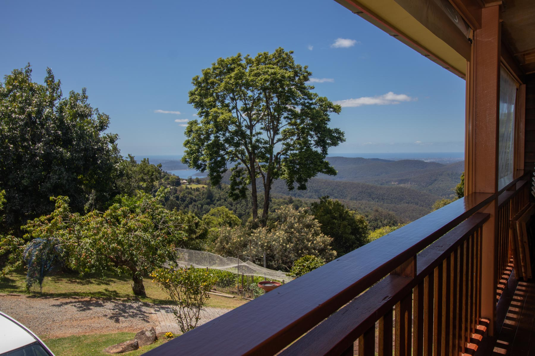 Mystery Mountain Farm Stay   Front Deck View